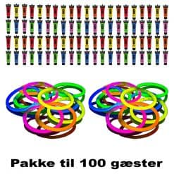 Rave party pakke 100 gæster