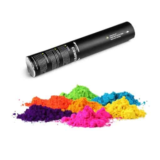 Farvepulver shooter, konfetti rør, shooter, konfetti shooter, farvepulver shooter, Håndholdt kanon, håndholdt bomberør, tomt bomberør, tomt konfettirør, konfettirør, Håndholdt kanon 40 cm, farvepulver kanon