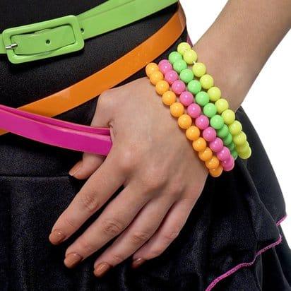 Neon armbånd, uv armbånd, uv tilbehør, rave tilbehør, rave tøj, uv tøj, neon tøj, rave kostume
