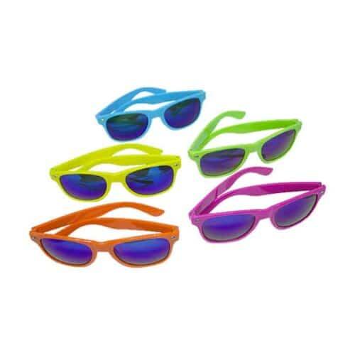 Solbriller til color run, solbriller til karneval, karnevals briller