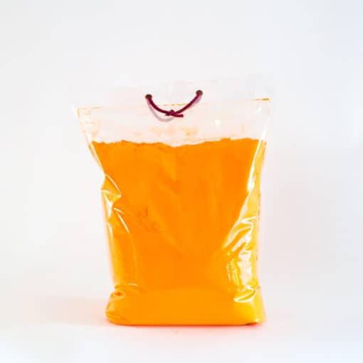 Farvepulver orange, Farvepulver, Holi Color Powder, Farvepulver til photoshoot, Farvepulver til color run, Color run farve, farvepulver 5kg