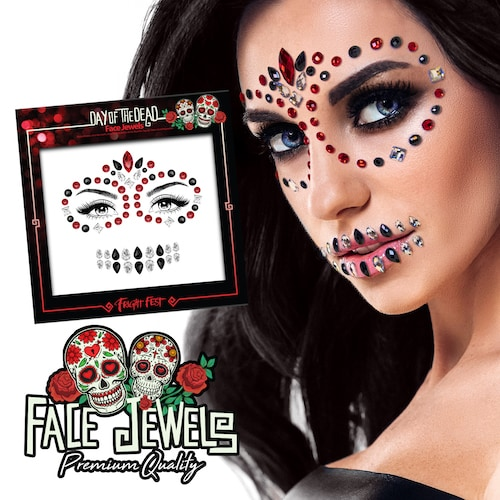 Day of the Dead Face Jewels eksempel
