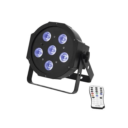 EUROLITE LED SLS-6 UV Floor inkl. IR fjernbetjening