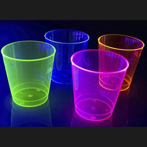 UV Shotglas (50 stk.) 4 farver